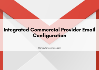 1.6 Integrated commercial provider email configuration