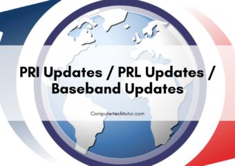 1.6 PRI Updates / PRL Updates / Baseband Updates